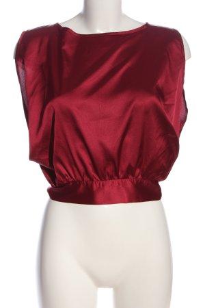 SheIn Top recortado rojo look casual