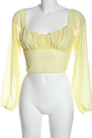SheIn Top corto giallo pallido stampa integrale stile casual