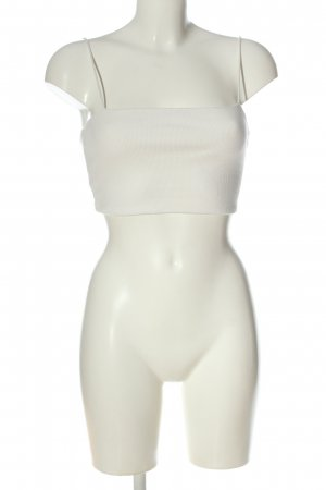 SheIn Cropped Top weiß Streifenmuster Casual-Look