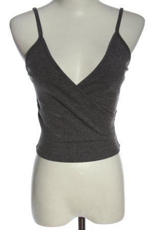 SheIn Crop-top gris clair style décontracté