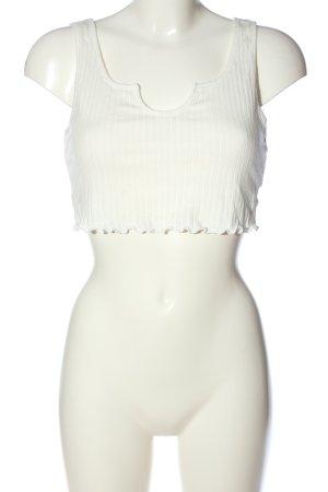 SheIn Top recortado blanco look casual