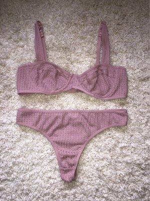 SheIn Ensemble de lingerie or rose