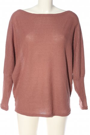 SheIn Grobstrickpullover pink Casual-Look