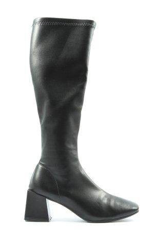 SheIn Wysokie buty na obcasie czarny W stylu casual
