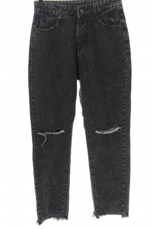 SheIn High Waist Jeans black casual look