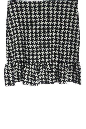 SheIn High Waist Rock schwarz-weiß grafisches Muster Casual-Look