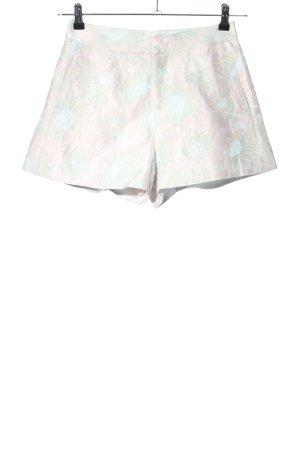 SheIn High-Waist-Shorts türkis-pink abstraktes Muster Casual-Look