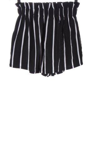 SheIn High-Waist-Shorts schwarz-weiß Allover-Druck Casual-Look