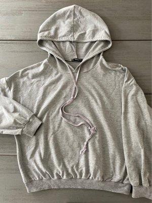 SheIn Sweat à capuche argenté-gris clair coton