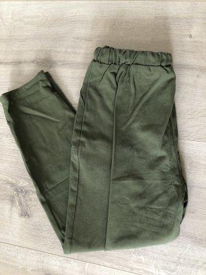 SheIn Pantalon kaki gris vert-kaki