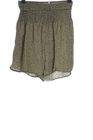 SheIn Hot Pants khaki-schwarz Allover-Druck Casual-Look
