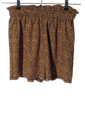 SheIn Hot pants bruin-zwart volledige print casual uitstraling
