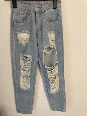 SheIn High Waist Jeans light blue