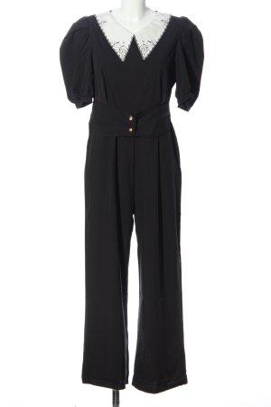 SheIn Jumpsuit schwarz-weiß Business-Look