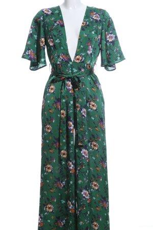 SheIn Jumpsuit grün Blumenmuster Elegant