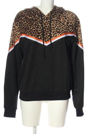 SheIn Hooded Sweatshirt leopard pattern casual look