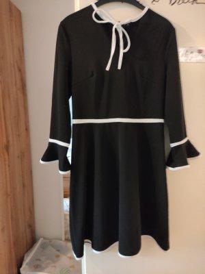 "SheIn Kleid ""Black& White"" langärmelig elegant"