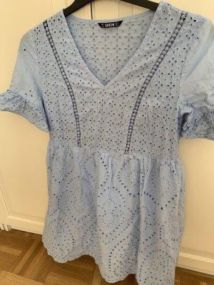 SheIn Robe Babydoll bleu clair coton