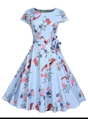 SHEIN Kleid Sommer M 38 Blau mit Muster