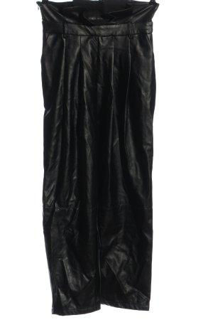SheIn Kunstlederhose schwarz Casual-Look