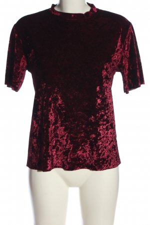 SheIn Kurzarm-Bluse rot Casual-Look