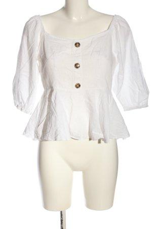 SheIn Kurzarm-Bluse weiß Elegant
