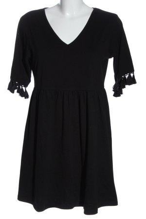 SheIn Kurzarmkleid schwarz Elegant