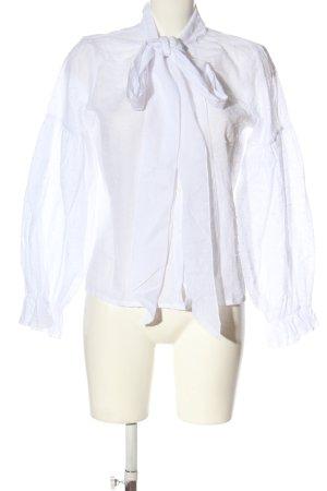 SheIn Langarm-Bluse weiß Casual-Look
