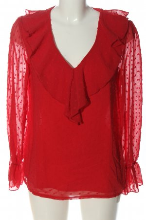 SheIn Langarm-Bluse rot Casual-Look