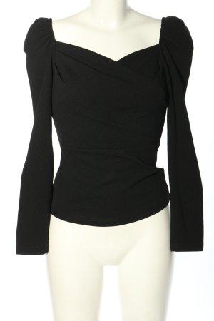 SheIn Langarm-Bluse schwarz Casual-Look