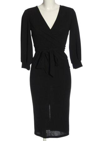 SheIn Langarmkleid schwarz Elegant