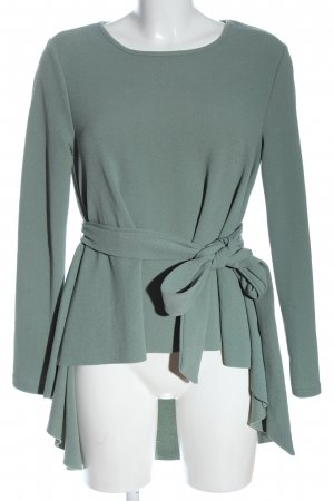 SheIn Long-Bluse türkis Business-Look