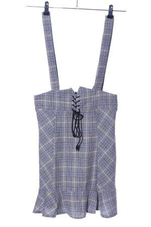 SheIn Salopette-jupe motif à carreaux style décontracté
