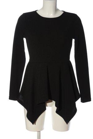 SheIn Long-Bluse schwarz Casual-Look