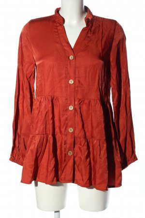 SheIn Long-Bluse rot Casual-Look