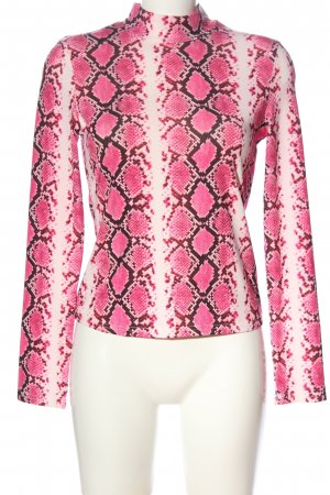 SheIn Longsleeve pink-brown allover print casual look
