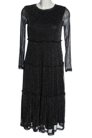 SheIn Midikleid schwarz-silberfarben Elegant