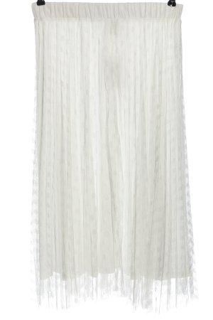 SheIn Spódnica midi biały Wzór w kropki Elegancki