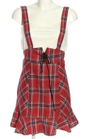 SheIn Minikleid rot-weiß Karomuster Casual-Look