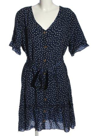 SheIn Minikleid blau-weiß Allover-Druck Casual-Look