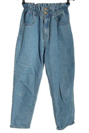 SheIn Mom-Jeans blau Casual-Look