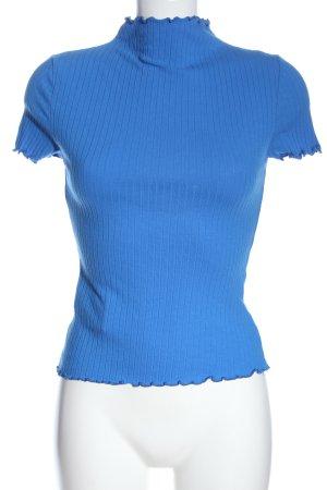 SheIn Chemise côtelée bleu style décontracté