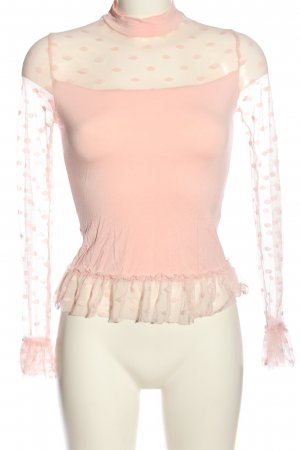 SheIn Siateczkowa koszulka różowy Elegancki