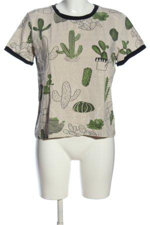 SheIn Print-Shirt Allover-Druck Casual-Look