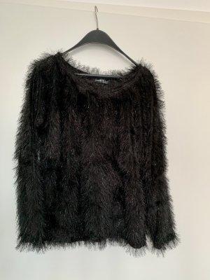 SheIn Crewneck Sweater black-silver-colored