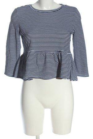 SheIn Ringelshirt schwarz-weiß Streifenmuster Casual-Look