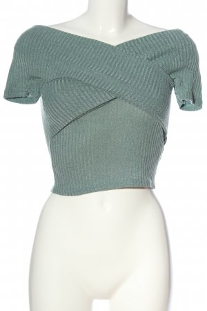 SheIn Ribbed Shirt turquoise casual look