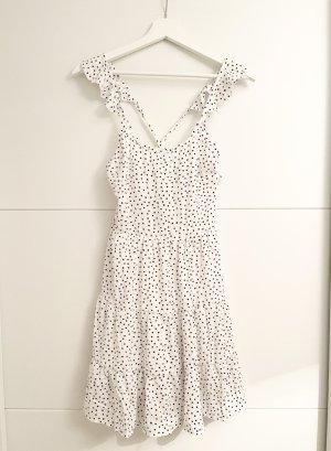 SheIn Chiffon jurk zwart-wit