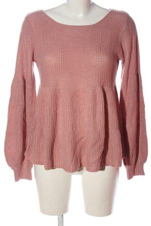 SheIn Crewneck Sweater pink casual look