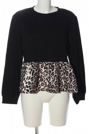 SheIn Crewneck Sweater leopard pattern casual look